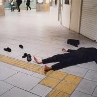 La rue, paradis des ivrognes à Tokyo