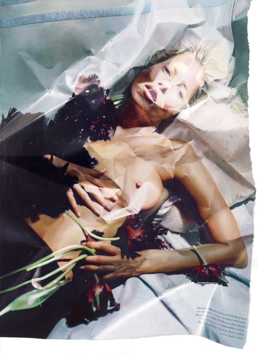 Les peintures à l'effet magazine de mode froissé de Stefania Fersini