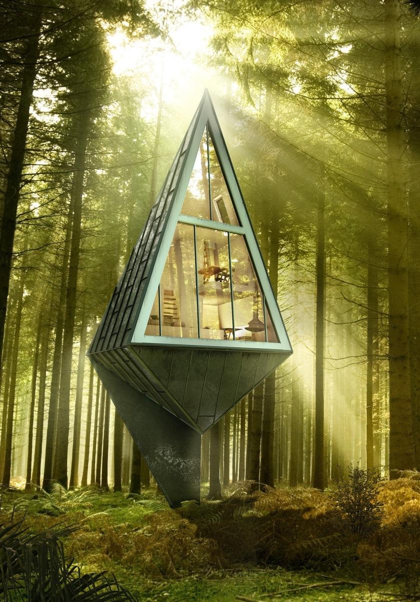 Les maisons dans les arbres autonomes de Konrad Wójcik