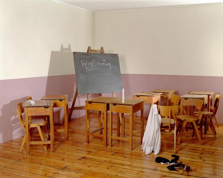 Empty porn sets, class room set